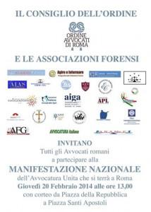 20 febbraio 2014 ore 13,00 in Piazza della Repubblica, tutti insieme A DIFESA DELLA DEMOCRAZIA